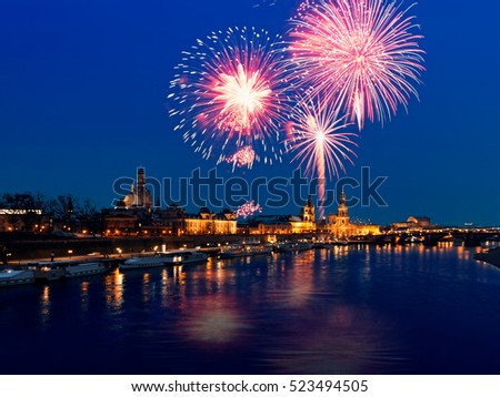Dresden new year, Germany