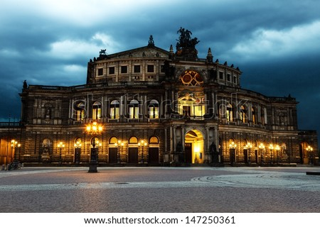 Dresden opera theater. Germany
