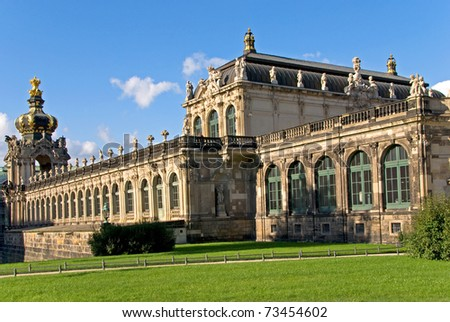 dresden zwinger building standing for baroque architecture