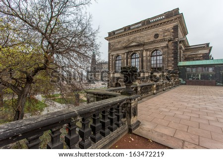 Dresdener Zwinger famous historic building - stock photo