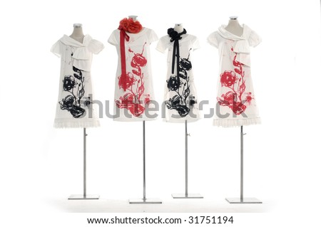Dress and mannequin - stock photo