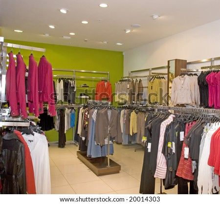 dress fashion store - stock photo