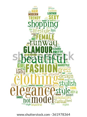 Dress Fashion Word Cloud Concept On Stock Illustration 361978364 Shutterstock