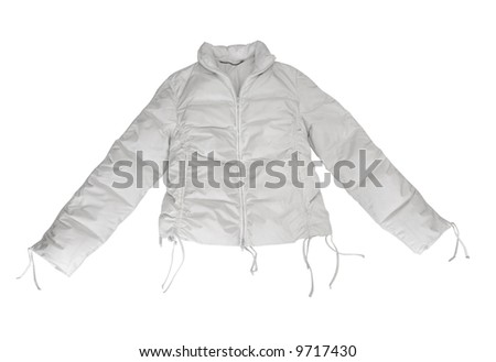 dress  woman jacket isolated white
