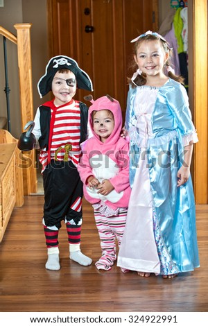 Dressed Up Pirate Boy - stock photo