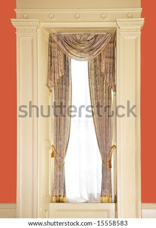 dressed window with curtains in luxury home