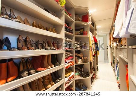 Dressing room - stock photo