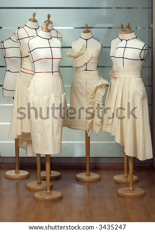 Dressmaker dummies / mannequines / models - stock photo