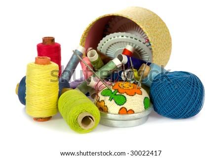 dressmaker object on white background - stock photo