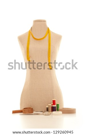 dressmakers or tailors dummy or mannequin - stock photo