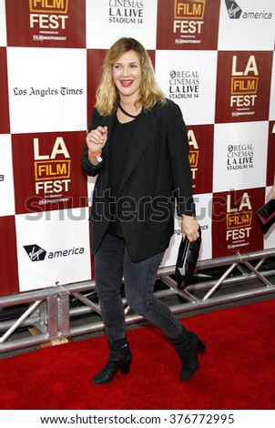"""Drew Barrymore at the 2012 Los Angeles Film Festival premiere of """"Seeking A Friend For The End Of The World"""" held at the Regal Cinemas L.A. LIVE Stadium 14 in Los Angeles, USA on June 18, 2012.  - stock photo"""