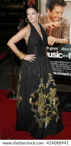 Drew Barrymore at the Los Angeles premiere of 'Music and Lyrics' held at the Grauman's Chinese Theater in Hollywood, USA on February 7, 2006. - stock photo