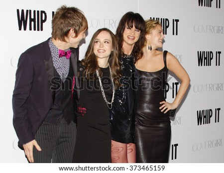 """Drew Barrymore, Ellen Page and Juliette Lewis at the Los Angeles Premiere of """"Whip It"""" held at the Grauman's Chinese Theater in Hollywood, California, United States on September 29, 2009.   - stock photo"""