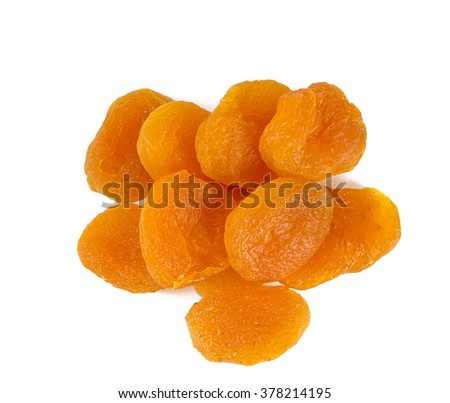 dried apricot isolated on white - stock photo