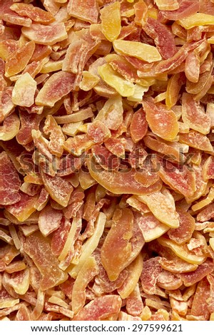 Dried apricot slices - stock photo