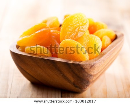 dried apricots in a bowl - stock photo
