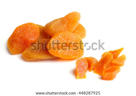 Dried Apricots Isolated on White Background