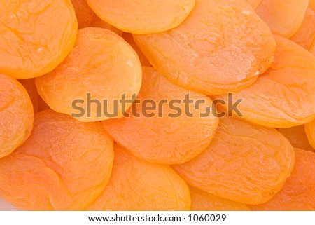 Dried apricots laid out in their packaging