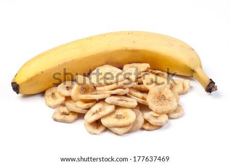 Dried bananas - stock photo
