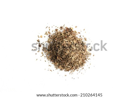 Dried basil isolated - stock photo