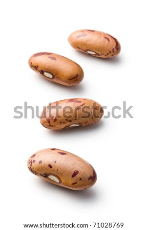dried beans on white background - stock photo
