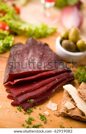 Dried beef meat