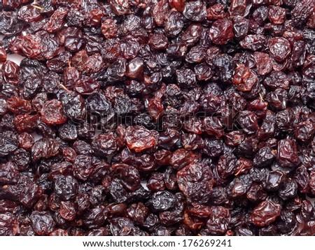 Dried blackcurrant - stock photo
