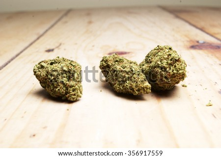 Dried Buds from the Legal Marijuana Plant, Weed