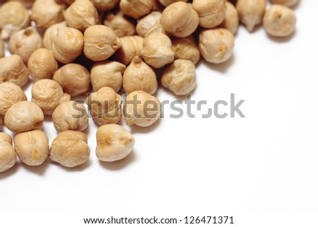 Dried chickpeas - stock photo