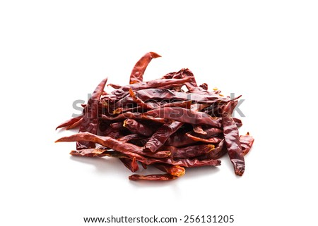 Dried chili. - stock photo