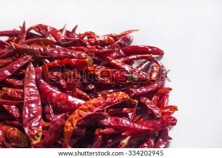 Dried chili - stock photo