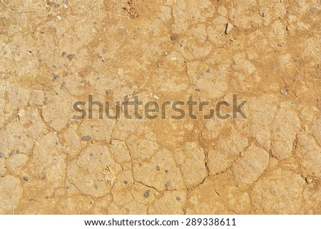 Dried cracked ground in the drought season - stock photo