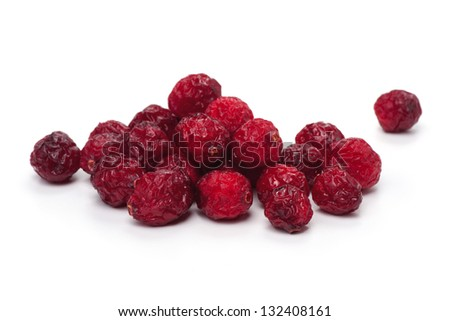 Dried cranberries isolated on white background - stock photo