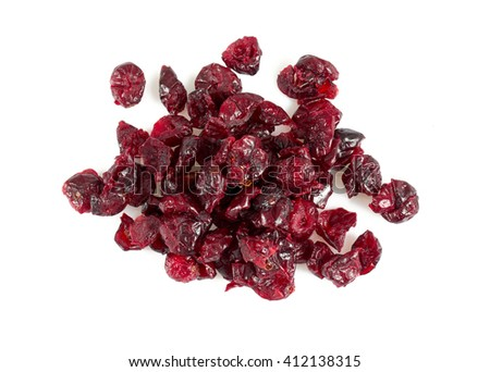 dried cranberry isolated on white - stock photo