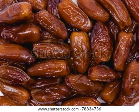 Dried date fruits background - stock photo