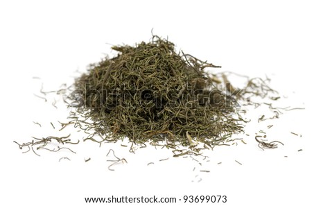 dried dill isolated on white