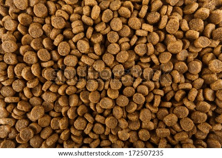 Dried dog food background - stock photo