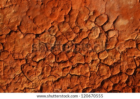 Dried Earth in the desert Outback - stock photo