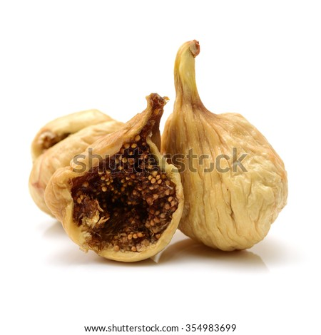 dried fig on white background