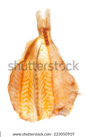 Dried fish Isolated on white