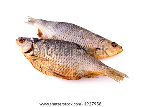 Dried fishes - stock photo