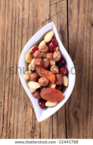 Dried fruit and nuts - stock photo