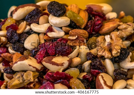 dried fruit ,ix with nuts