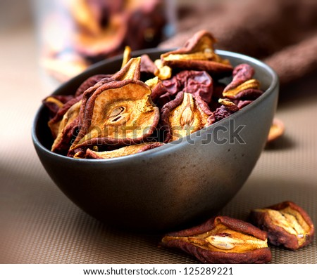 Dried Fruits. Dry Pear Fruit - stock photo
