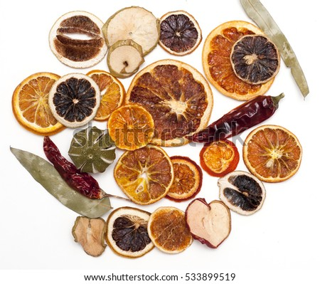 Dried fruits, for winter decoration