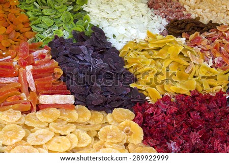 Dried fruits mix - stock photo