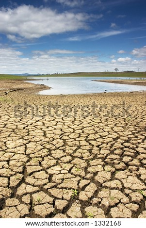 Dried land near Brisbane - stock photo