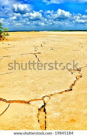Dried land near Yekaterinburg - stock photo