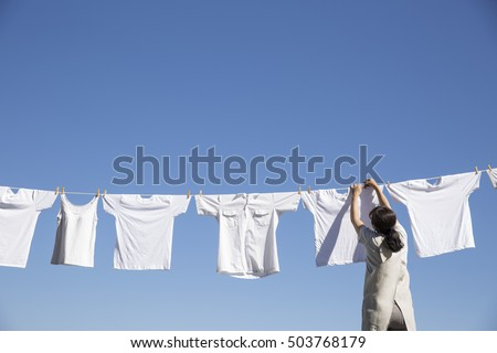 Dried laundry