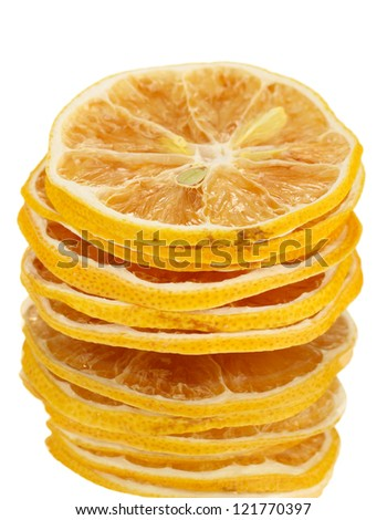 dried lemons isolated on white